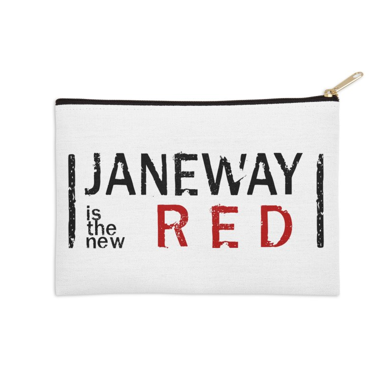 Janeway is the new Red Accessories Zip Pouch by khurst's Artist Shop