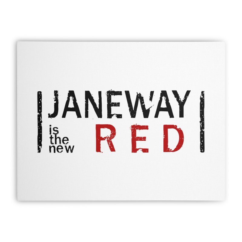 Janeway is the new Red Home Stretched Canvas by khurst's Artist Shop