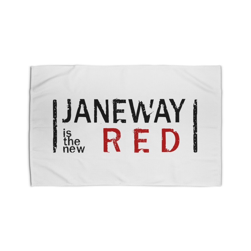 Janeway is the new Red Home Rug by khurst's Artist Shop