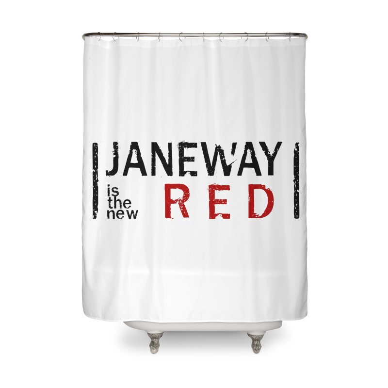 Janeway is the new Red Home Shower Curtain by khurst's Artist Shop
