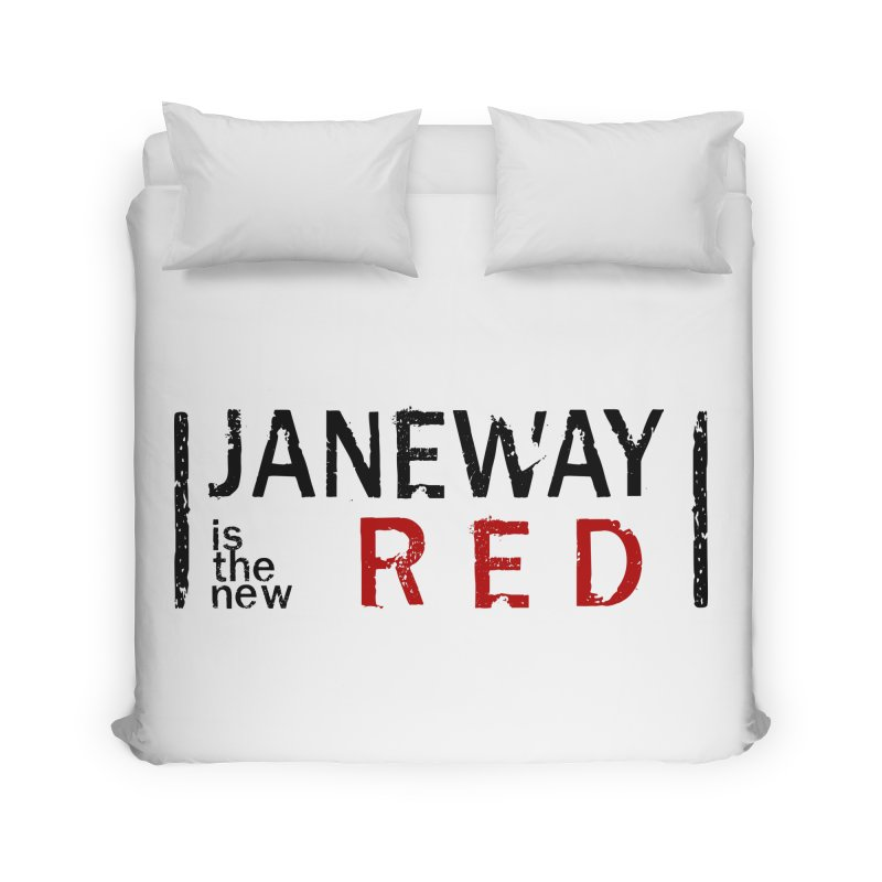 Janeway is the new Red Home Duvet by khurst's Artist Shop