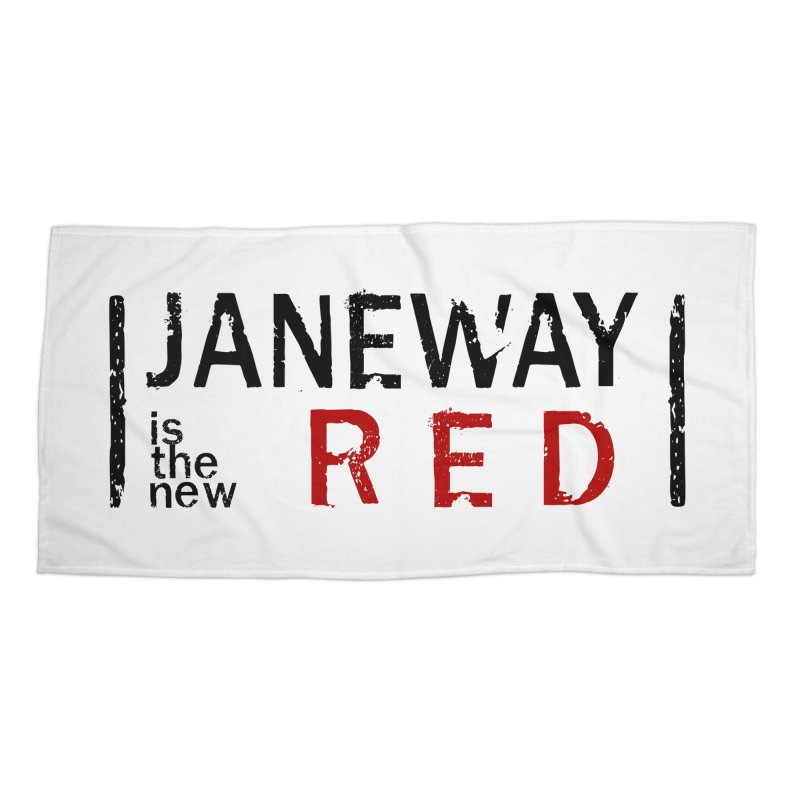 Janeway is the new Red Accessories Beach Towel by khurst's Artist Shop