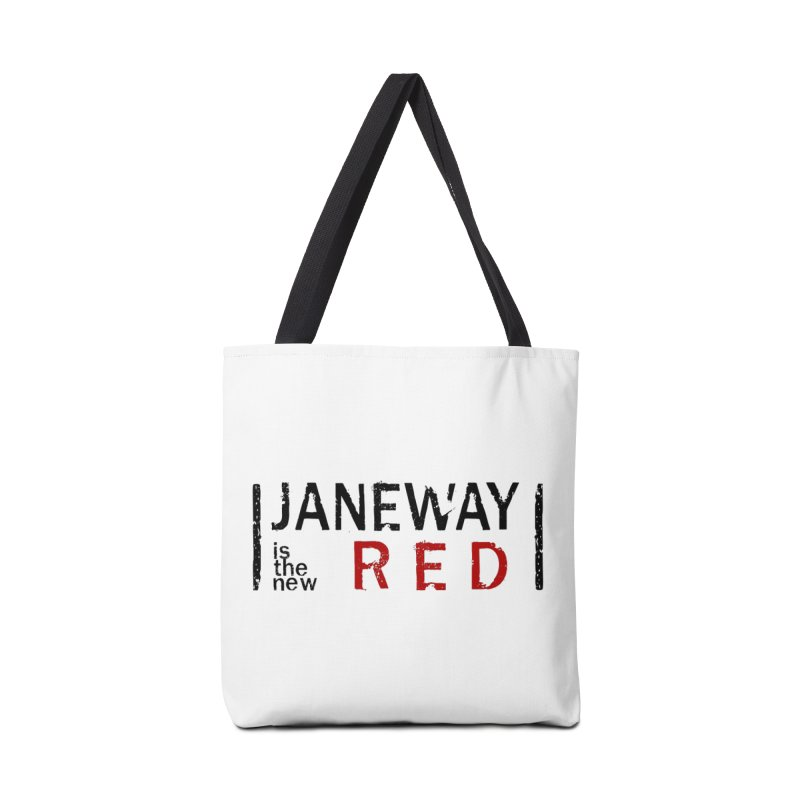 Janeway is the new Red Accessories Bag by khurst's Artist Shop