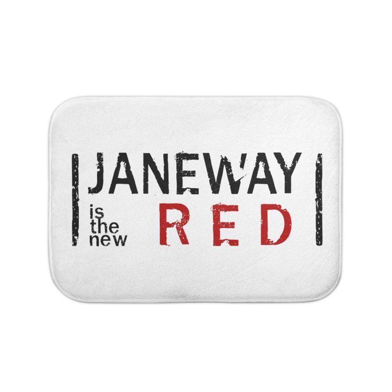 Janeway is the new Red Home Bath Mat by khurst's Artist Shop