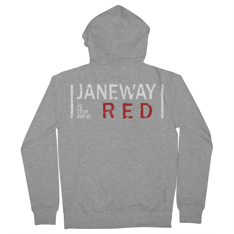 Janeway is the new Red Men's Zip-Up Hoody by To Boldly Merch
