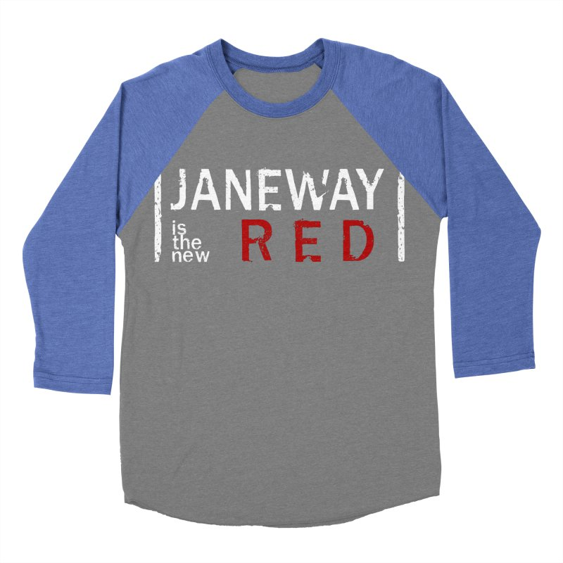 Janeway is the new Red Women's Baseball Triblend T-Shirt by To Boldly Merch