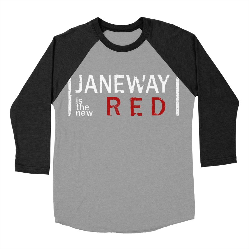 Janeway is the new Red Men's Baseball Triblend T-Shirt by To Boldly Merch