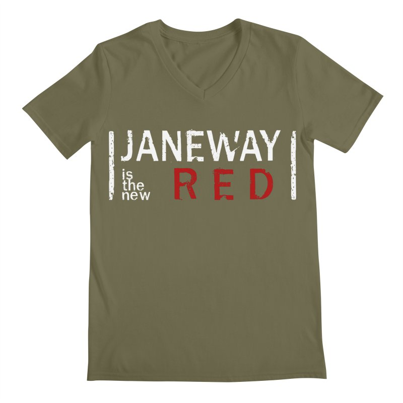 Janeway is the new Red Men's V-Neck by To Boldly Merch
