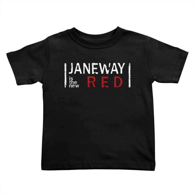 Janeway is the new Red Kids Toddler T-Shirt by To Boldly Merch