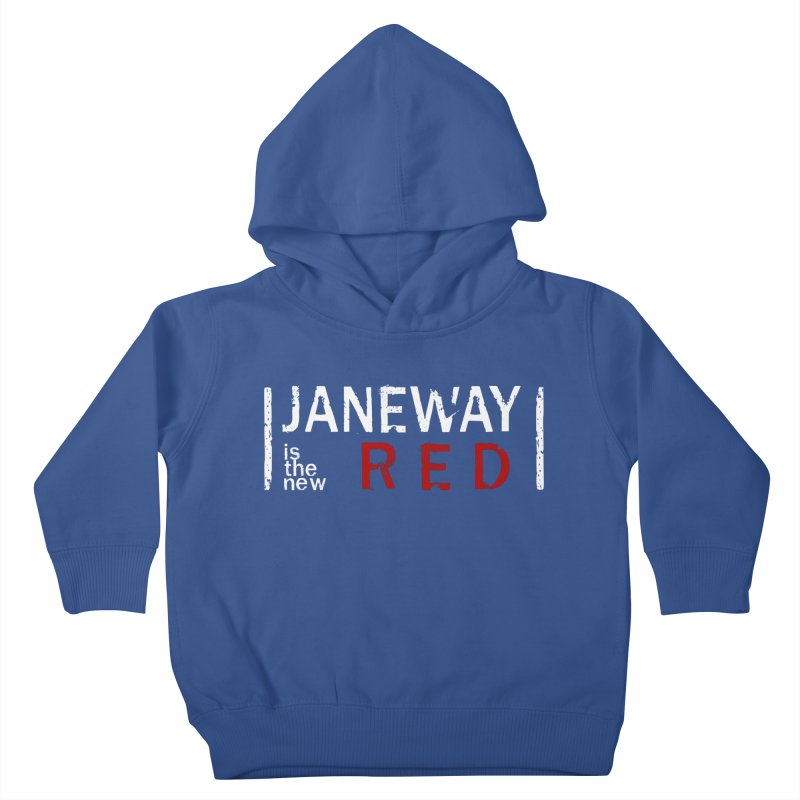 Janeway is the new Red Kids Toddler Pullover Hoody by To Boldly Merch
