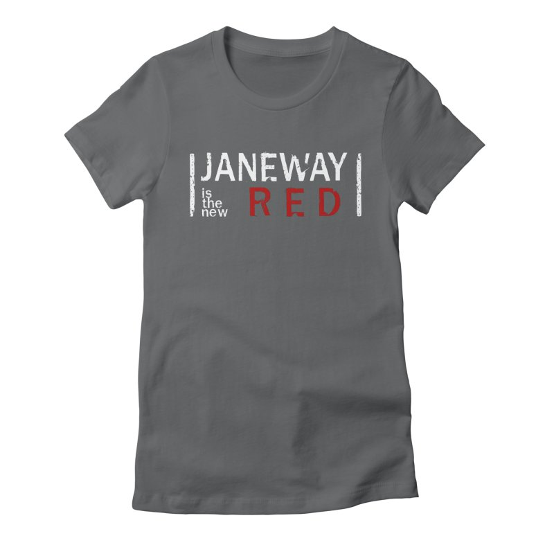 Janeway is the new Red Women's Fitted T-Shirt by To Boldly Merch