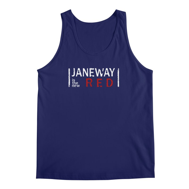 Janeway is the new Red Men's Tank by To Boldly Merch