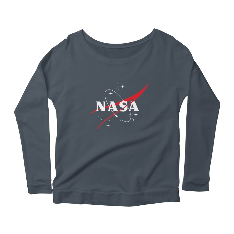 Pure NASA Women's Longsleeve Scoopneck  by To Boldly Merch