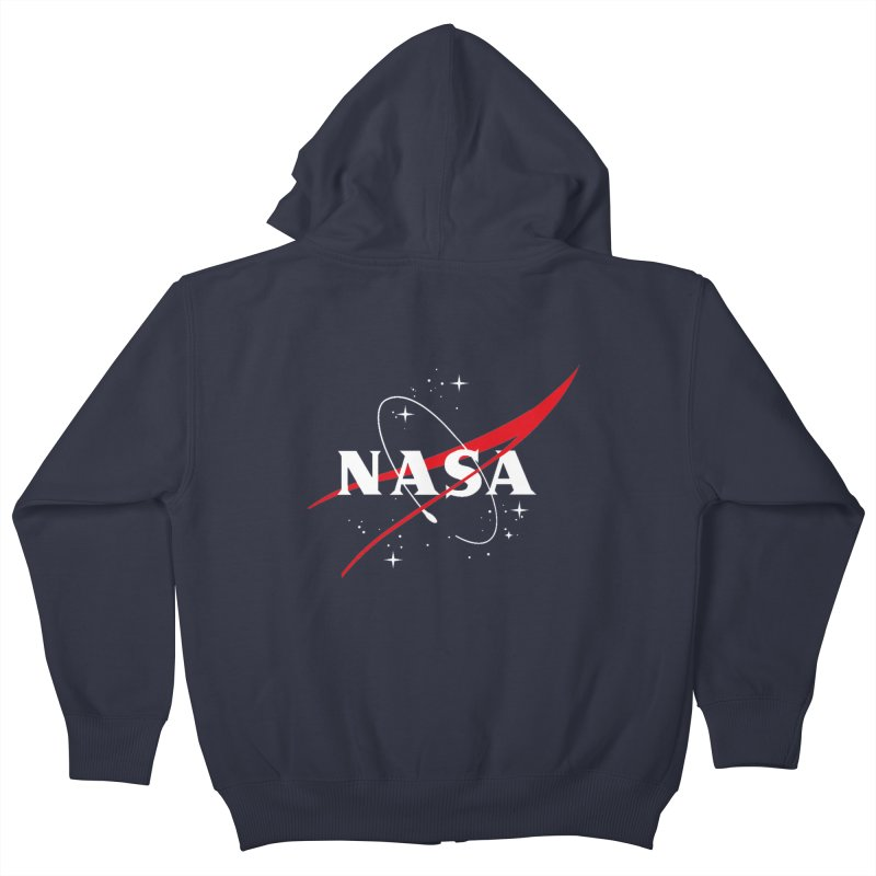 Pure NASA Kids Zip-Up Hoody by To Boldly Merch