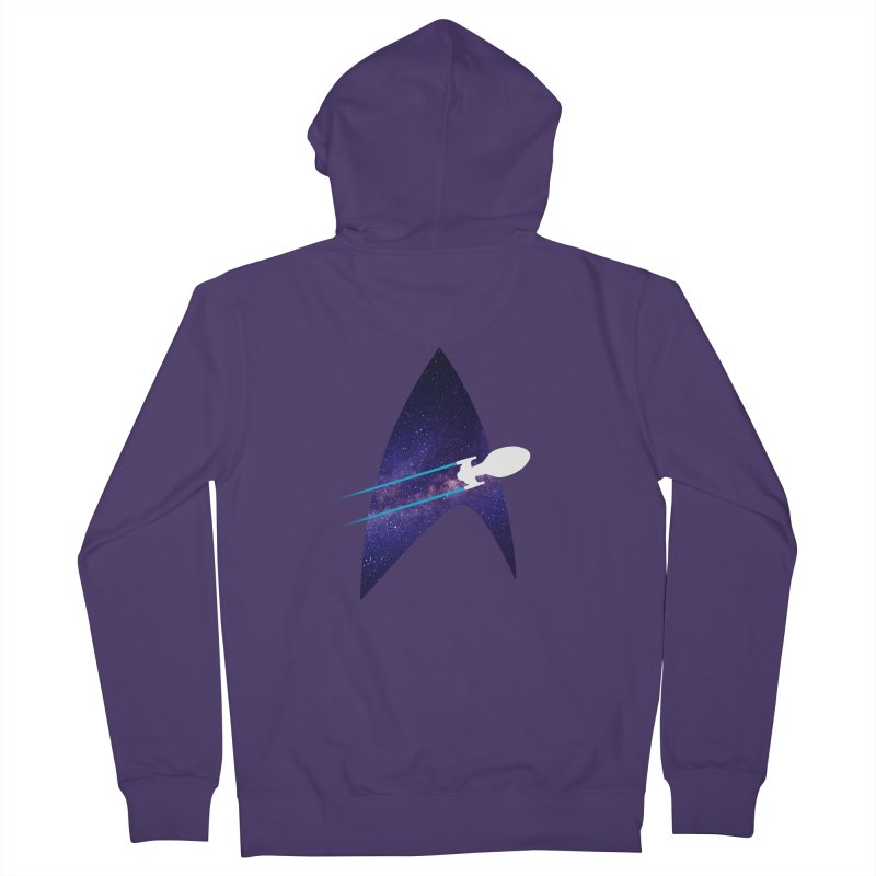 Voyager Warp Delta Women's Zip-Up Hoody by To Boldly Merch