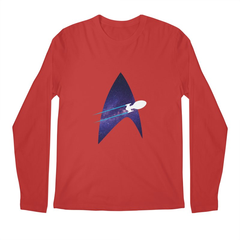 Voyager Warp Delta Men's Longsleeve T-Shirt by To Boldly Merch