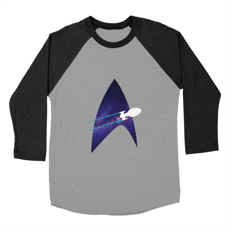 Voyager Warp Delta Women's Baseball Triblend T-Shirt by To Boldly Merch