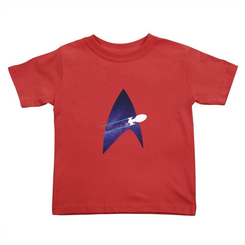 Voyager Warp Delta Kids Toddler T-Shirt by To Boldly Merch