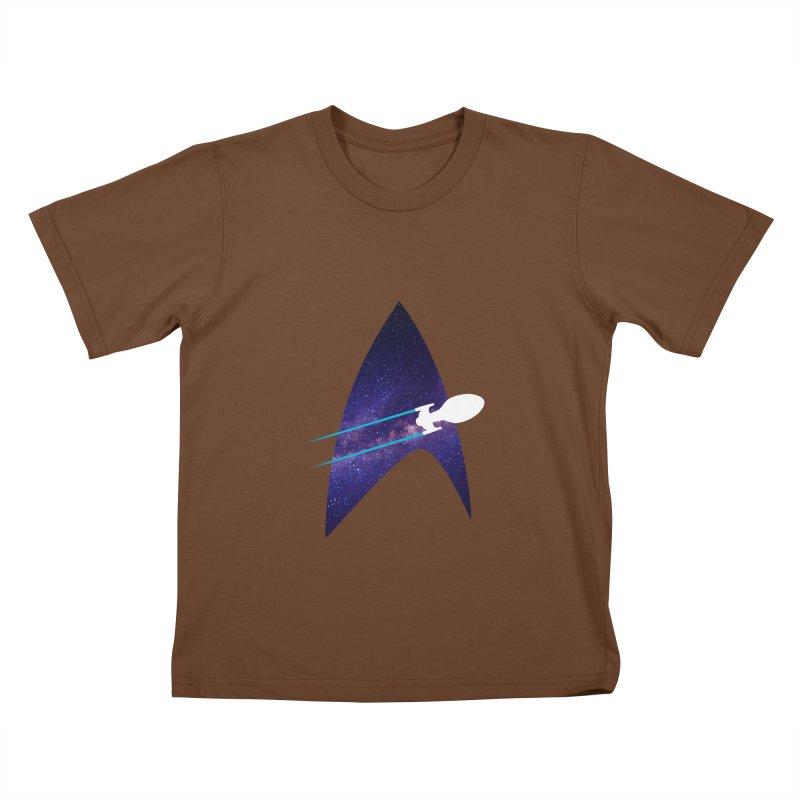 Voyager Warp Delta Kids T-Shirt by To Boldly Merch