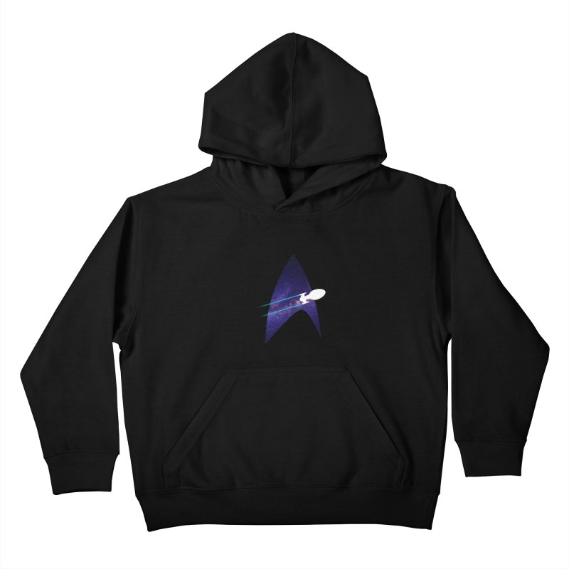 Voyager Warp Delta Kids Pullover Hoody by To Boldly Merch