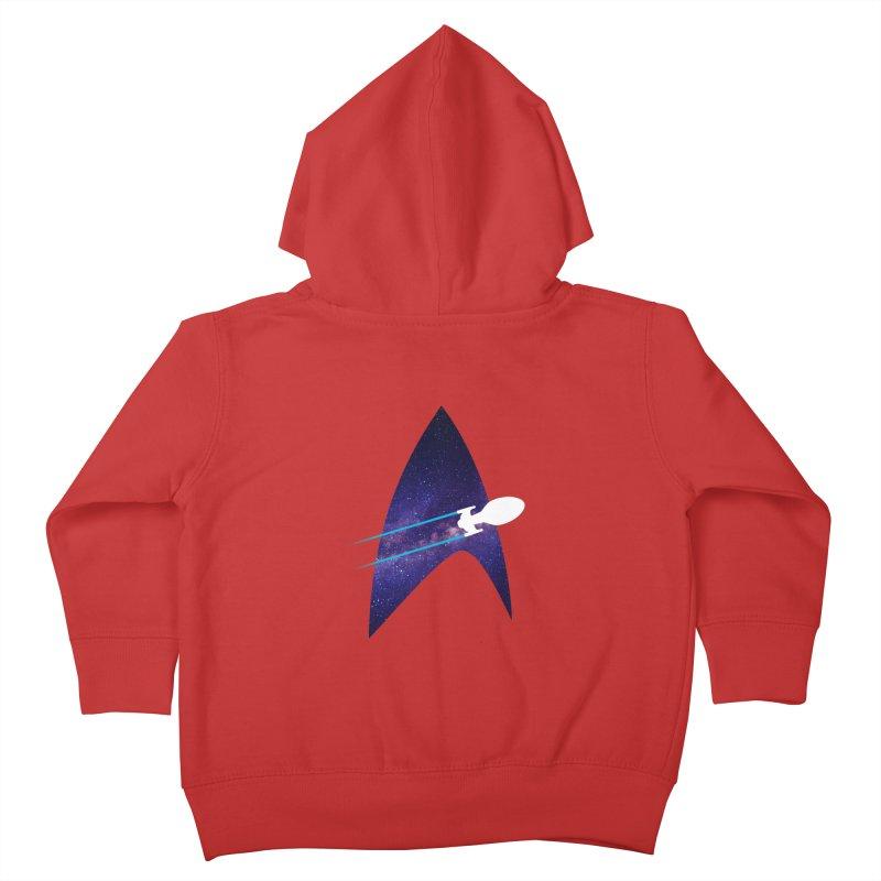 Voyager Warp Delta Kids Toddler Zip-Up Hoody by To Boldly Merch
