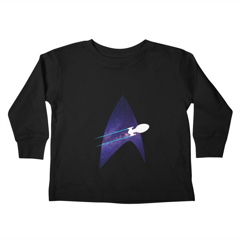 Voyager Warp Delta Kids Toddler Longsleeve T-Shirt by To Boldly Merch