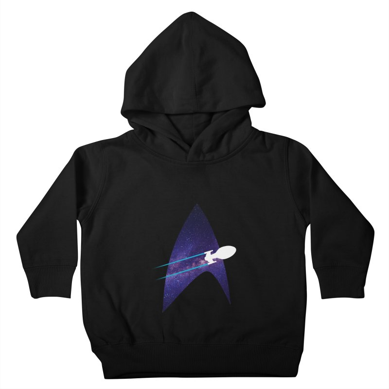 Voyager Warp Delta Kids Toddler Pullover Hoody by To Boldly Merch