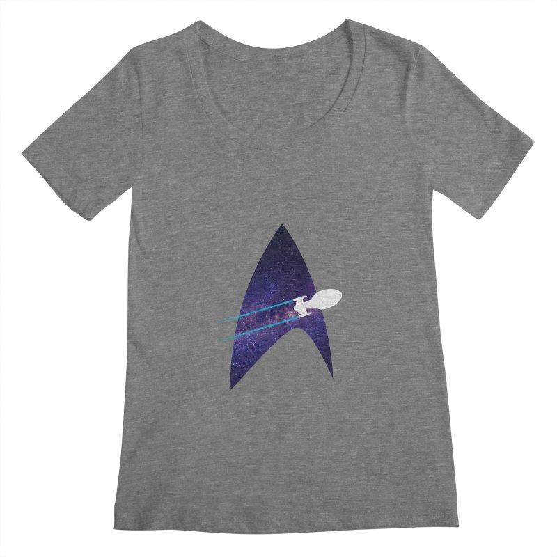 Voyager Warp Delta Women's Scoopneck by To Boldly Merch
