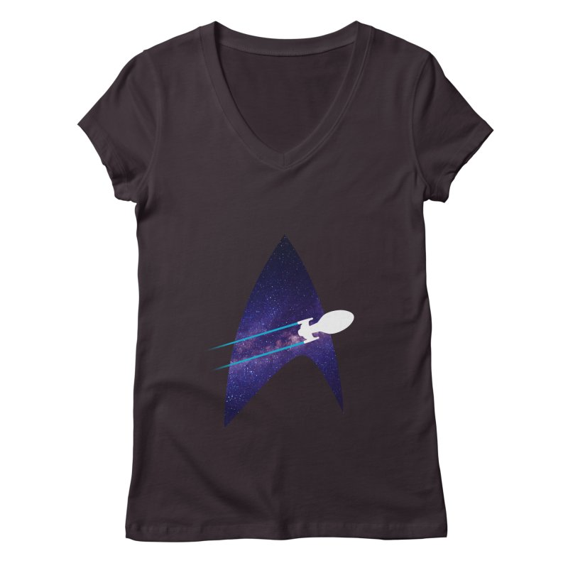 Voyager Warp Delta Women's V-Neck by To Boldly Merch