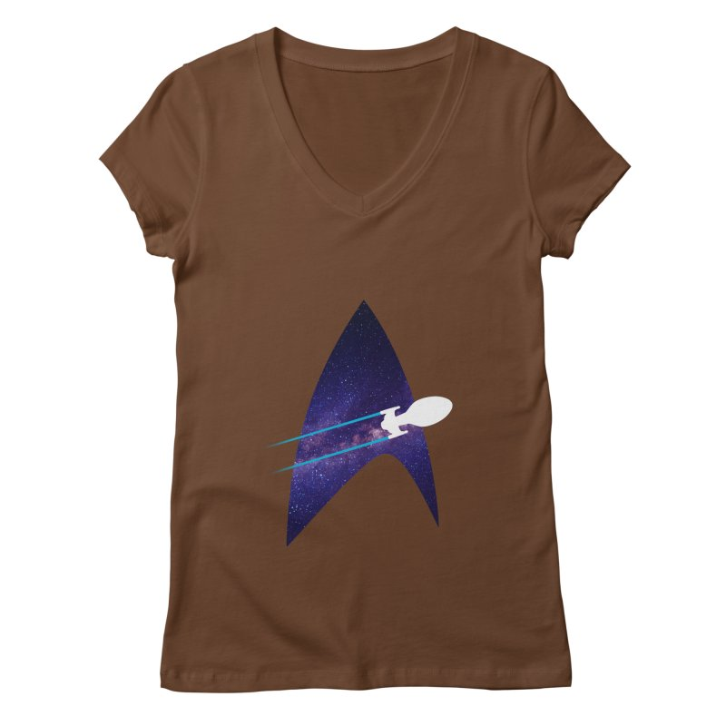 Voyager Warp Delta Women's V-Neck by To Boldly Merch