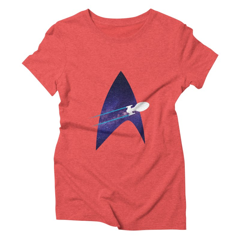 Voyager Warp Delta Women's Triblend T-Shirt by To Boldly Merch