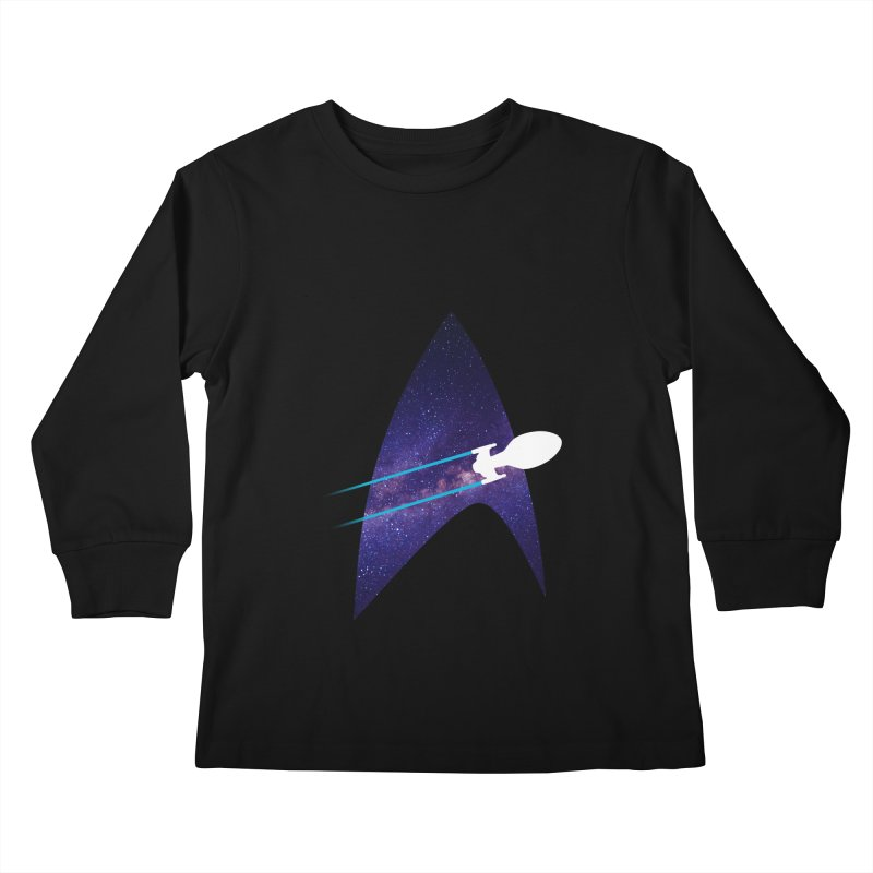 Voyager Warp Delta Kids Longsleeve T-Shirt by To Boldly Merch
