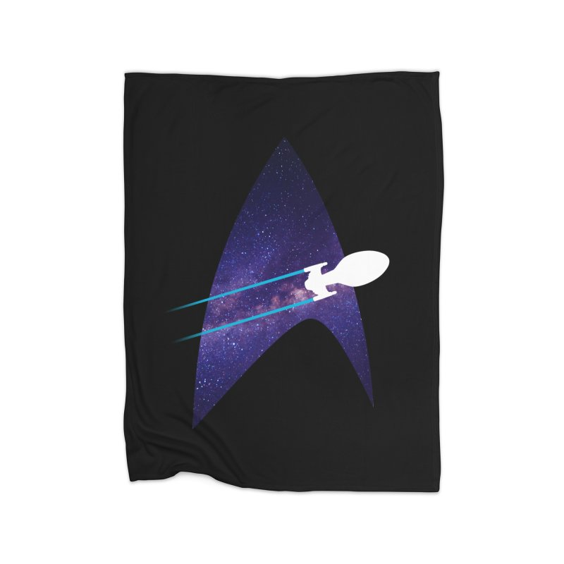 Voyager Warp Delta Home Blanket by To Boldly Merch