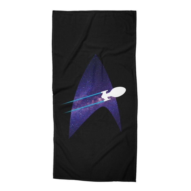 Voyager Warp Delta Accessories Beach Towel by To Boldly Merch