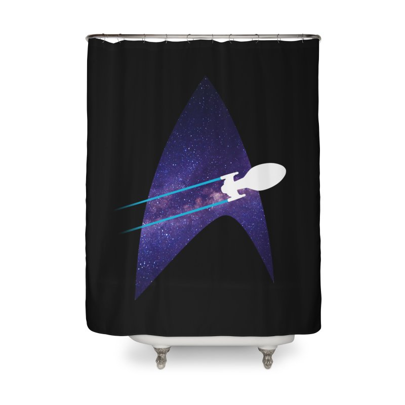 Voyager Warp Delta Home Shower Curtain by To Boldly Merch