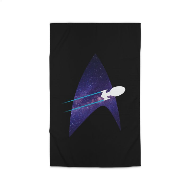 Voyager Warp Delta Home Rug by To Boldly Merch