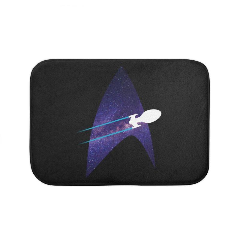 Voyager Warp Delta Home Bath Mat by To Boldly Merch