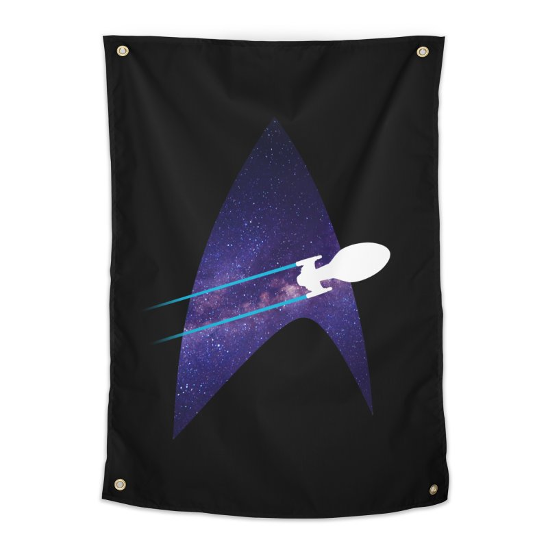 Voyager Warp Delta Home Tapestry by To Boldly Merch