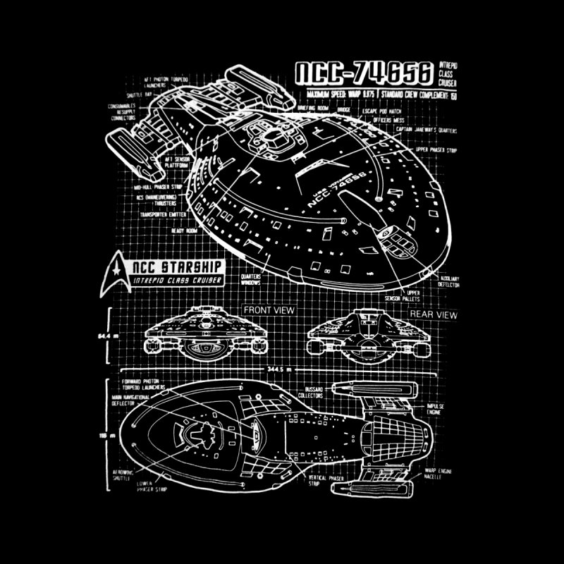 Star Trek Voyager Blueprint by To Boldly Merch
