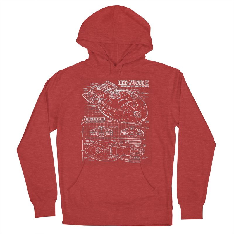 Star Trek Voyager Blueprint Women's Pullover Hoody by To Boldly Merch