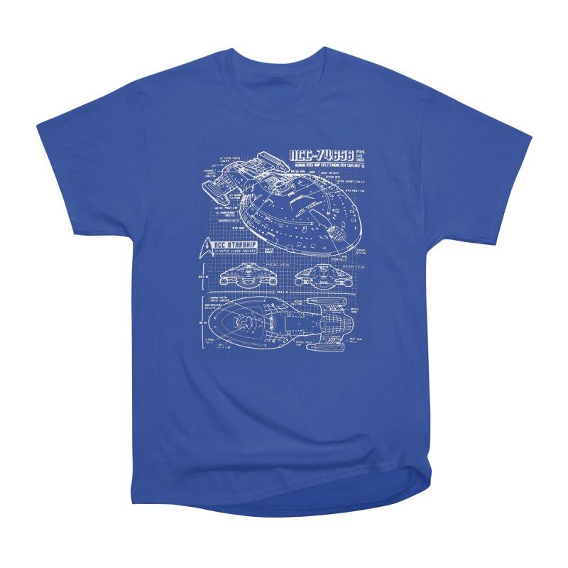Star Trek Voyager Blueprint Men's Classic T-Shirt by To Boldly Merch