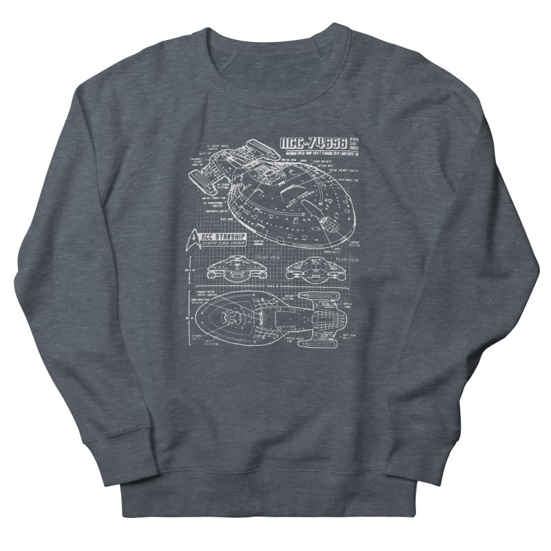 Star Trek Voyager Blueprint Women's Sweatshirt by To Boldly Merch