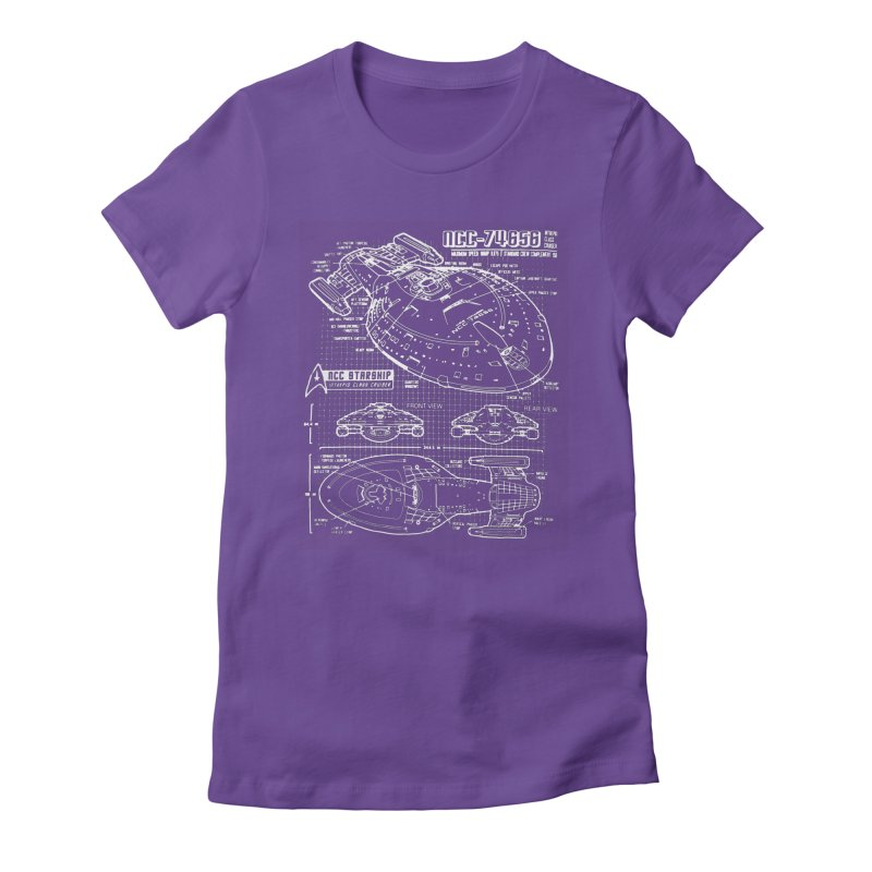 Star Trek Voyager Blueprint Women's Fitted T-Shirt by To Boldly Merch