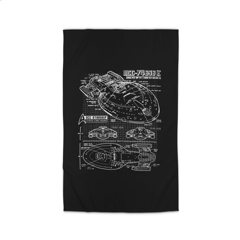 Star Trek Voyager Blueprint Home Rug by To Boldly Merch