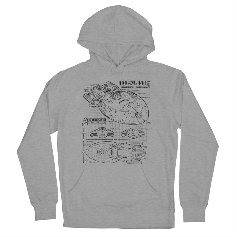 USS Voyager NCC-74656 blueprint Women's Pullover Hoody by To Boldly Merch