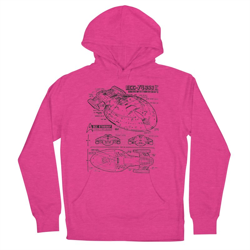 USS Voyager NCC-74656 blueprint Men's Pullover Hoody by To Boldly Merch