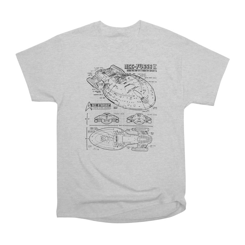 USS Voyager NCC-74656 blueprint Men's Classic T-Shirt by To Boldly Merch