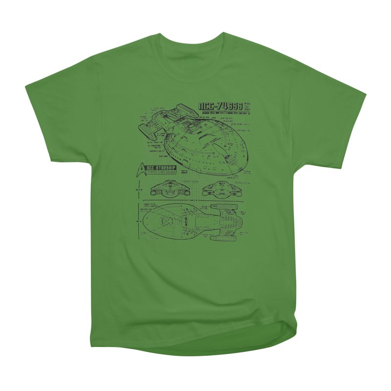 USS Voyager NCC-74656 blueprint Women's Classic Unisex T-Shirt by To Boldly Merch