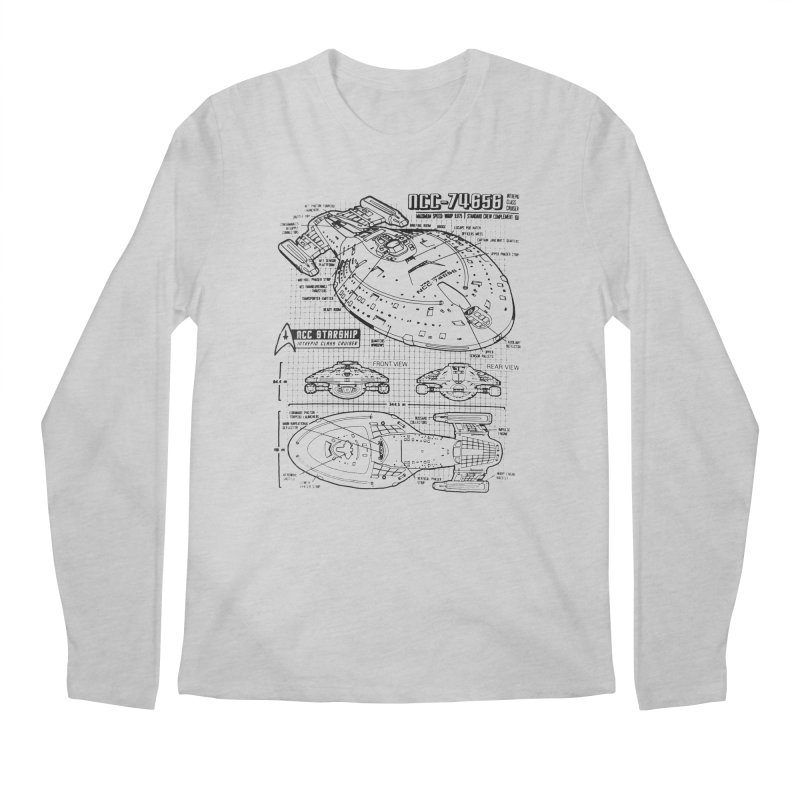 USS Voyager NCC-74656 blueprint Men's Longsleeve T-Shirt by To Boldly Merch