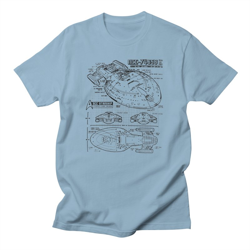 USS Voyager NCC-74656 blueprint Men's T-Shirt by To Boldly Merch